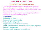 PRICING STRATEGIES EVERYDAY LOW PRICING ( EDLP )