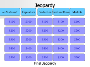 Midterm Review Jeopardy