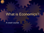 Economics Crash Course - Dorman-Data