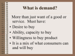 Unit II: Supply and Demand