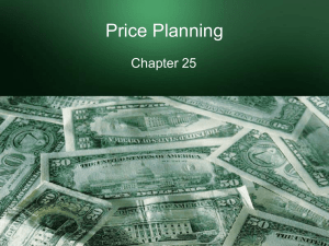Price Planning - Becky White Lehi High School
