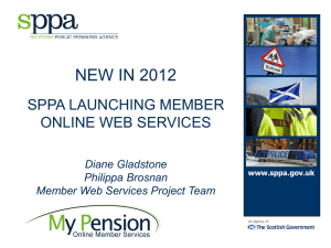 Member services - Scottish Public Pensions Agency