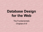 Database Design for the Web
