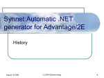 Synnet:Automatic .NET generator for Advantage/2E