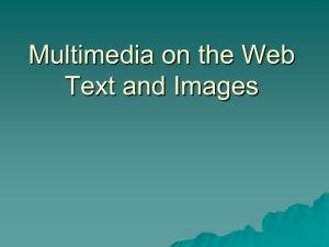 Multimedia on the Web - Plymouth State University