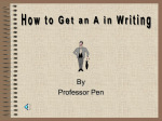 "How to Get an ""A"" in Writing"