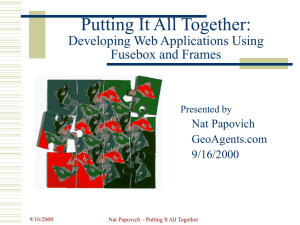 Putting It Together: Developing Web