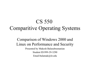 CS 550 - IIT Computer Science Department