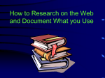 How to Research the Web and Document What you Use