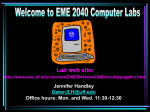 PowerPoint Presentation - Welcome to EME 2040 Computer