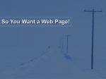 So You Want A Webpage