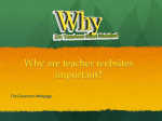 Why are teacher websites important?