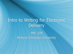 Intro to Writing for Electronic Delivery - ACU Blogs