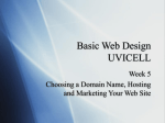 Basic Web Design UVICELL