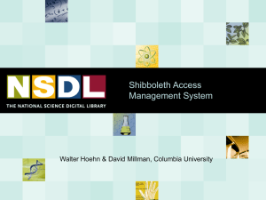 Shibboleth Access Management System