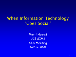 new-social - UC Berkeley School of Information