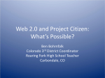 PowerPoint Presentation - Web 2.0 and Project Citizen: What`s