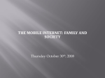 the mobile internet: family and society