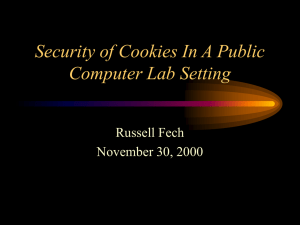Security of Cookies in a computer lab setting