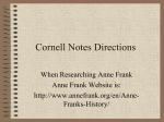 Anne Frank Research Day One Anne Frank`s Family Background