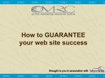 How to GUARANTEE traffic to your web site