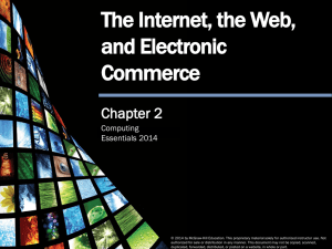 The Internet, the Web, and Electronic Commerce Chapter 2