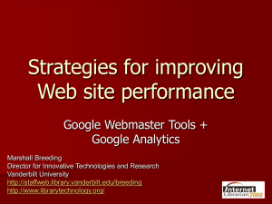 Web Site Performance - Library Technology Guides