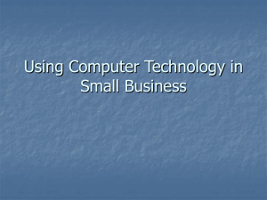 Using Computer Technology in Small Business