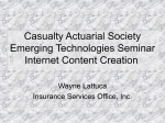 Internet Content - Casualty Actuarial Society
