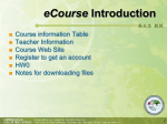 高正忠教授eCourse Introduction - jjkao`s ecourse web site
