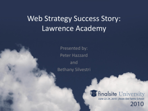 Web Strategy Success Story