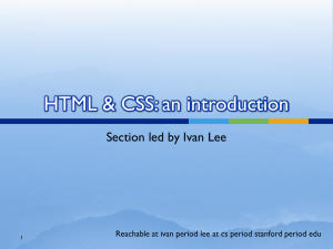 HTML-CSS-Section