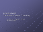 Overview of Physics Computing - University of Oxford Department of