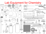 Lab Equipment for Chemistry