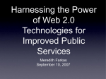 Harnessing the Power of Web 2.0 Technologies for Improved Public