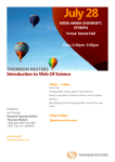 July 28  Introduction to Web Of Science THOMSON REUTERS