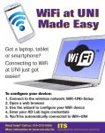 WiFi at UNI Made Easy Got a laptop, tablet or smartphone?