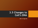2.5 Changes to a cell`s DNA