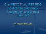 Can PET/CT and PET FDG predict Chemotherapy response in lung