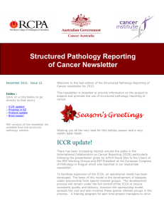 Structured Pathology Reporting of Cancer Newsletter