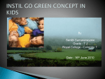 GO GREEN CONCEPT IN KIDS