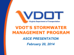 VDOT`s ASCE SW Program Presentation 2-20-14
