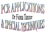 PCR APPLICATIONS - University of Cape Town