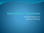 Stormwater Awareness - Texas State University