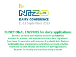 FUNCTIONAL ENZYMES for dairy applications