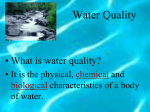 Water Quality notes
