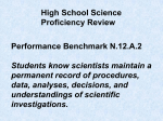 Nature of Science #2 Proficiency Review