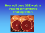 How well does GSE work in treating contaminated drinking water?