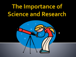 The Importance of Science and Research Power Point