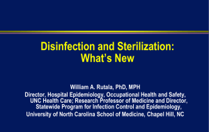 Disinfection and Sterilization: What`s New